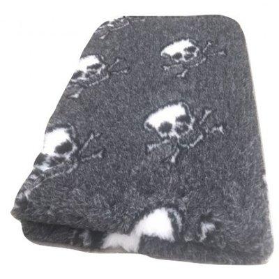 Vetbed Skulls Grijs Anti Slip - 5 Stuks 150x100 cm