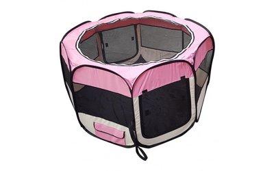 Nylon Puppyren Roze - 8 hoekig