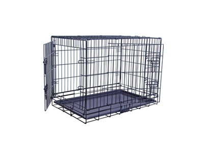 Hundebox 1 Tür Schwarz S (48 cm)