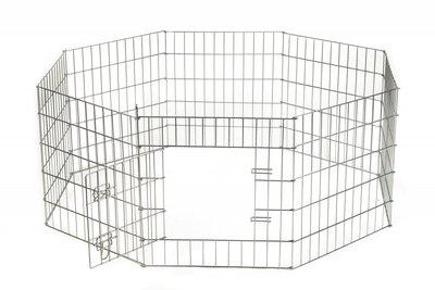 Puppyren Zink uitvouwbaar M (480x60 cm)