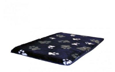 Benchkussen Teddybont Blauw + Voetprint - Diverse Maten
