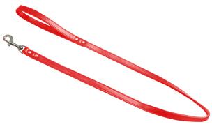Leren Looplijn Rood (100 cm - 10 mm)