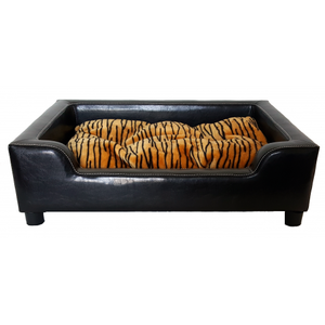 Hondenbank Leatherlook zwart 89 x 64 x 25 cm
