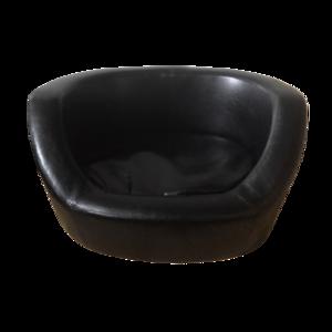 Hondenbank + Kussen Leatherlook - Zwart - 66 x 54 x 36 cm