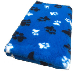 Vetbed Kobaltblauw met Zwart Wit Pootjes Anti-Slip
